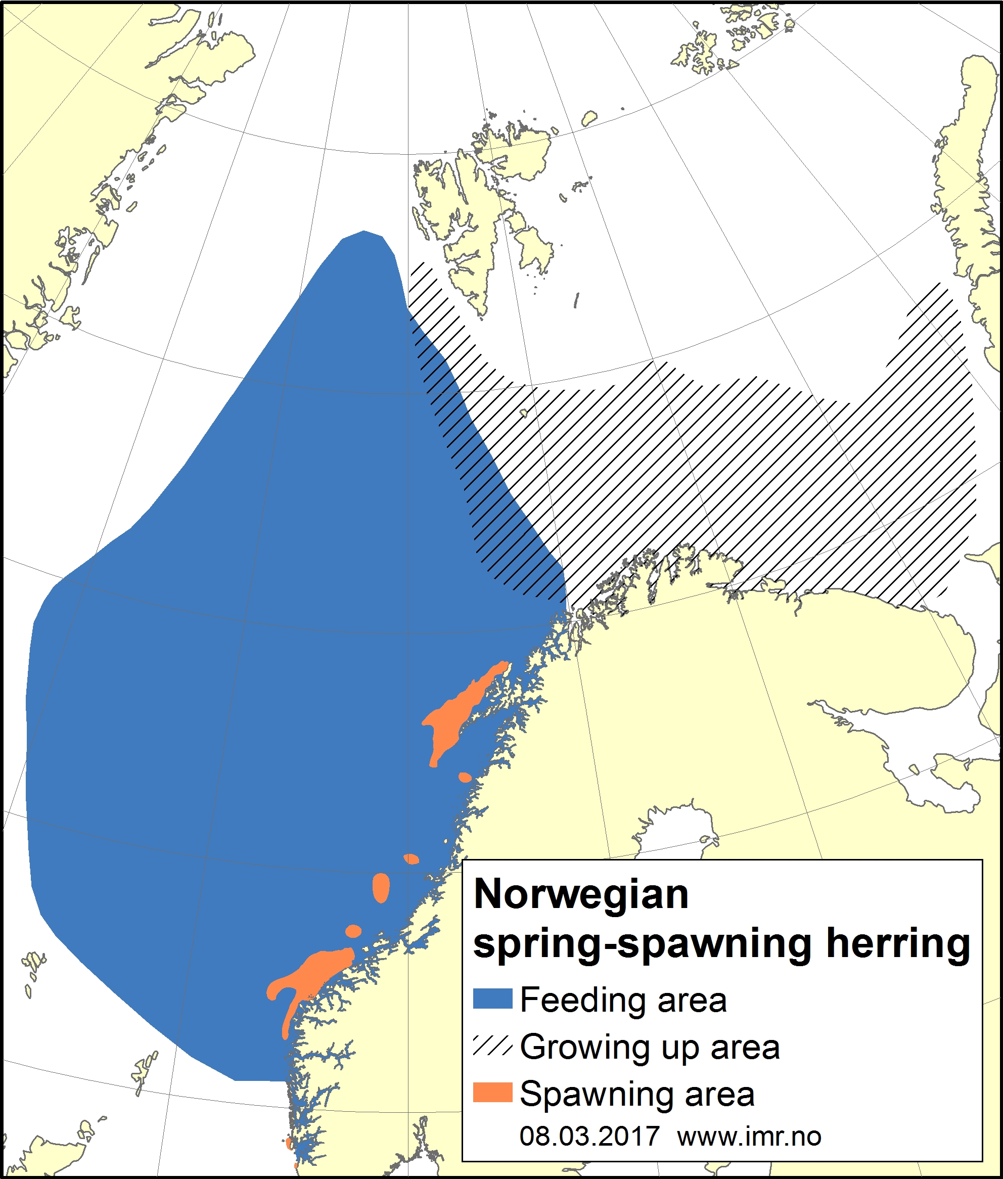 Distribution map herring